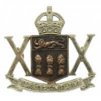 Canadian 20th Saskatchewan Dragoons (Armoured) Cap Badge - King's Crown