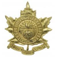 Canadian Les Fusiliers de Sherbrooke Cap Badge - King's Crown