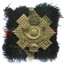 6th Bn. Highland Light Infantry (H.L.I.) Cap Badge - King's Crown