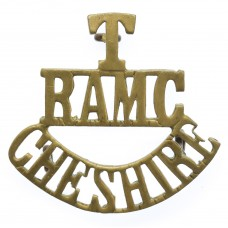 Cheshire Territorials Royal Army Medical Corps (T/R.A.M.C./CHESHIRE) Shoulder Title