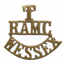 Wessex Territorials Royal Army Medical Corps (T/R.A.M.C./WESSEX) Shoulder Title
