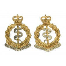 Pair of Royal Army Medical Corps (R.A.M.C.) Officer's Silvered &a