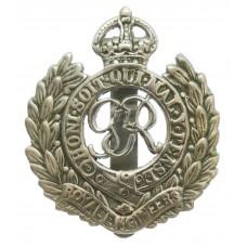 George VI Royal Engineers Chrome Cap Badge