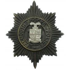 Falmouth Docks Police Black Helmet Plate