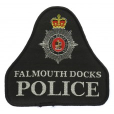 Falmouth Docks Police Cloth Pullover Patch Badge