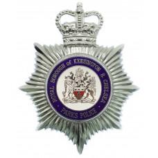 Royal Borough of Kensington & Chelsea Parks Police Enamelled Helmet Plate - Queen's Crown