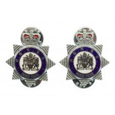 Royal Borough of Kensington & Chelsea Parks Police Enamelled Collar/Epaulette Badges - Queen's Crown