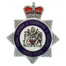 Royal Borough of Kensington & Chelsea Parks Police Enamelled Cap Badge - Queen's Crown