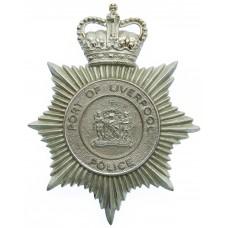 Port of Liverpool Police Helmet Plate - Queen's Crown