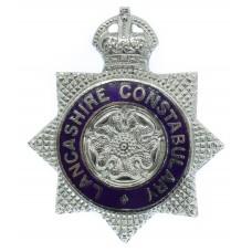 Lancashire Constabulary Senior Officer's Enamelled Cap Badge - King's Crown