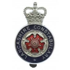 Lancashire Constabulary Enamelled Cap Badge - Queen's Crown