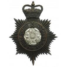 Lancashire Constabulary Night Helmet Plate - Queen's Crown