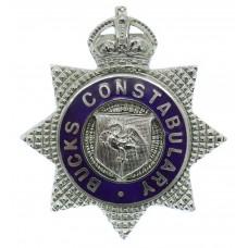 Buckinghamshire Constabulary Senior Officer's Enamelled Cap Badge - King's Crown