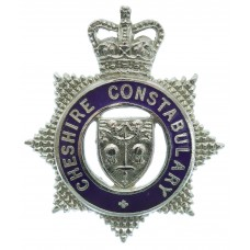 Cheshire Constabulary Senior Officer's Enamelled Cap Badge - Queen's Crown