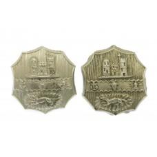 Pair of Dudley Borough Police White Metal Collar Badges