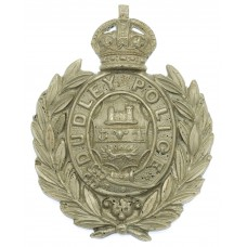 Dudley Borough Police Small Wreath Cap Badge - King's Crown