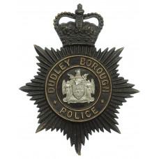 Dudley Borough Police Night Helmet Plate - Queen's Crown