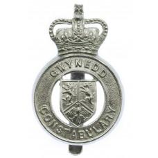 Gwynedd Constabulary Cap Badge - Queen's Crown