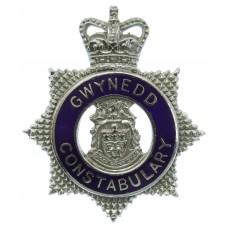 Gwynedd Constabulary Senior Officer's Enamelled Cap Badge - Queen's Crown