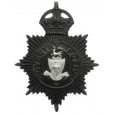 Coventry Police Black Helmet Plate - King's Crown