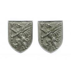 Pair of Somertsetshire Constabulary Collar Badges