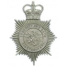 Somerset and Bath Constabulary Helmet Plate - Queen's Crown
