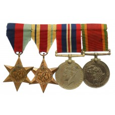 WW2 South African Medal Group of Four - Cpl. H.W. Smith, 82nd Workshop & Park Coy. S.A.E.C.