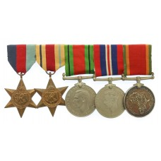 WW2 South African Medal Group of Five - Pte. / Spr. S.J. Odendaal, Imperial Light Horse & S.A.E.C.