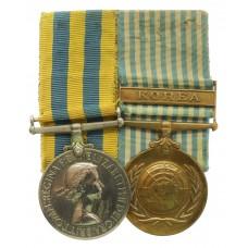Queen's Korea and UN Korea Medal Pair - Cpl. F. Pratt, 1st Bn. Duke Of Wellington's Regiment