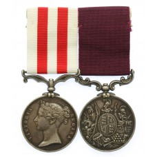 Indian Mutiny Medal and Army Long Service & Good Conduct Medal Pair - Regimental Sergeant Major J.T. Murray, 73rd Regiment of Foot