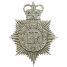 Dorset & Bournemouth Constabulary Helmet Plate - Queen's Crow