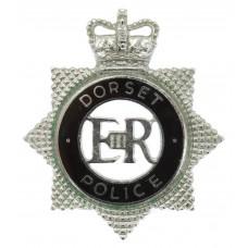 Dorset Police Senior Officer's Enamelled Cap Badge - Queen's Crow