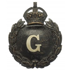 Gloucestershire Constabulary Black Wreath Helmet Plate - King's C