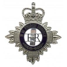 H.M. Prison Service Enamelled Cap Badge - Queen's Crown