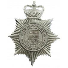Derbyshire Constabulary Helmet Plate - Queen's Crown