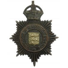 Hastings Borough Police Night Helmet Plate - King's Crown