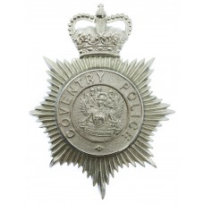 Coventry Police Helmet Plate - Queen's Crown