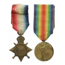 WW1 1914-15 Star and Victory Medal - Pte. J. Goodwin, 1st/5th Bn.