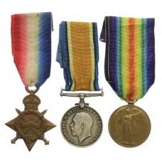 WW1 1914-15 Star Medal Trio - Pte. H. Scurrah, 6th Bn. King's Own