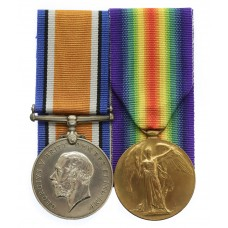 WW1 British War & Victory Medal Pair - Pte. E. Beers, 23rd Bn