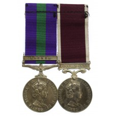 General Service Medal (Clasp - Cyprus) and Long Service & Goo