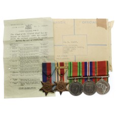 WW2 South African Medal Group of Five - Pte. M. Shandt, Cape Corps