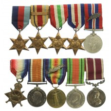 WW1 Meritorious Service & Mentioned In Despatches Medal Group