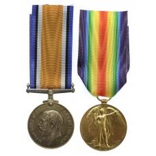 WW1 British War & Victory Medal Pair - 2nd Lieut. C.E. Hopkin