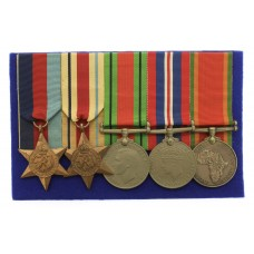 WW2 South African Medal Group of Five - Pte. G.J. Joubert, 44 R&H Base Tank Workshop, Technical Service Corps