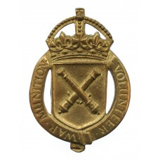 WW1 War Munition Volunteer War Workers Lapel Badge