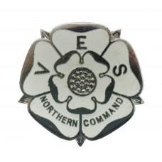 WW2 Voluntary Entertainment Service (V.E.S.) Northern Command Enamelled Lapel Badge
