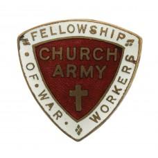 WW2 Church Army Fellowship of War Workers Badge
