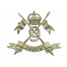 9th Lancers Collar Badge - King's Crown