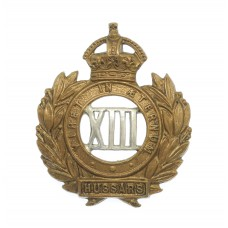 13th Hussars Collar Badge - King's Crown
